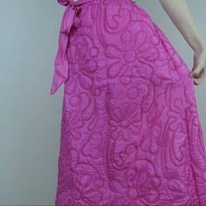 Vintage pink quilted skirt